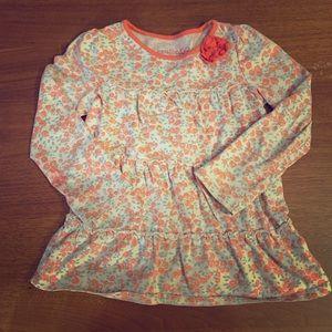 OshKosh floral print long sleeve shirt